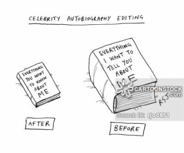 'Celebrity autobiography editing'